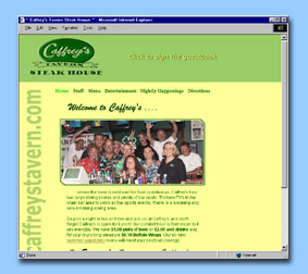 Caffreys Tavern one of the best places to hang out at Forked River NJ Great Food and Beer and 17 TV to catch the current sports event :: Web Site Design by dnetdesigns located in New Jersey
