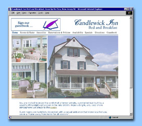 Candlewick Inn is one of the best bed and breakfasts at the Jersey Shore :: Web Site Design by dnetdesigns located in New Jersey