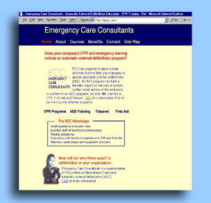 Emergency Care Consultants :: CPR AED First Aid training and refresher training :: Web Site Design by dnetdesigns located in New Jersey